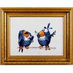 Набор для вышивания Алисена арт.1021 Про птичек 3 25*19 см