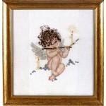 Набор для вышивания Алисена арт.1037 Ангелочек с флейтой 18*20 см