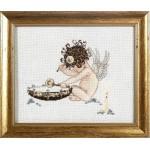 Набор для вышивания Алисена арт.1038 Ангелочек у барабана 20*16 см