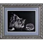 Набор для вышивания Алисена арт.1062 Кот с ежиком 33*23 см