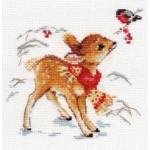 Набор для вышивания арт.Алиса - 0-100 Олененок 14х14см