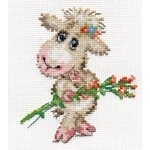 Набор для вышивания арт.Алиса - 0-105 Милая овечка 10х12см