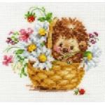 Набор для вышивания арт.Алиса - 0-113 Ежик в ромашках 13х11см