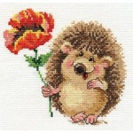 Набор для вышивания арт.Алиса - 0-116 Ежик с маком 14х13см