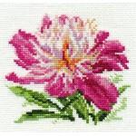 Набор для вышивания арт.Алиса - 0-119 Розовый пион 10х11см