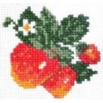 Набор для вышивания арт.Алиса - 021 М Клубничка 7х7 см