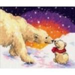 Набор для вышивания арт.Алиса - 026 СР Белые медведи 20х16 см