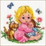 Набор для вышивания арт.Алиса - 027 СР Аленка 18х16 см