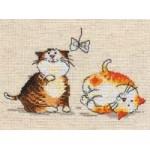 Набор для вышивания арт.Алиса - 030 СР Цап-царап (лен) 15х10 см