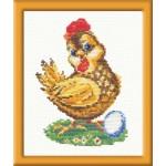 Набор для вышивания арт.ЧИ-13-03 (Д-019) СР Курочка-ряба 11х15см