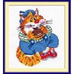 Набор для вышивания арт.ЧИ-15-09 (Д-089) СР Котик круглый животик 10х12см