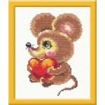 Набор для вышивания арт.ЧИ-18-17 (Д-042) М Мышонок 8х12см