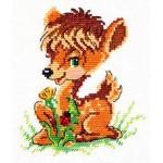 Набор для вышивания арт.ЧИ-18-36 СР Олененок 13х11 см