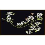Набор для вышивания арт.Gouverneur-1047.05 Цветущая груша Черная канва 24х44 см