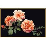 Набор для вышивания арт.Gouverneur-414.05 Черная роза Черная канва