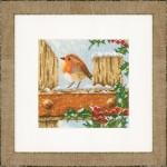 Набор для вышивания арт.LANARTE-145845 Любопытный снегирь
