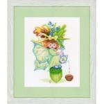 Набор для вышивания арт.LANARTE-147008А Девочка с желудями