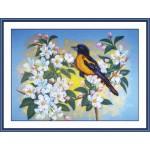 Набор для вышивания арт.Овен - 006-РТ Птичка на яблоне