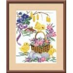 Набор для вышивания арт.Овен - 013 СР Цыплята 16x20 см