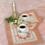Набор для вышивания арт.Овен - 022 Б Чай вдвоем 55x35 см, 35x25 см