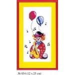 Набор для вышивания арт.Овен - 034 СР Клоун Ре 12x25 см