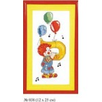 Набор для вышивания арт.Овен - 038 СР Клоун Си 12x25 см