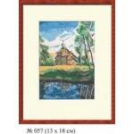 Набор для вышивания арт.Овен - 057 СР Деревянное зодчество 13x18 см