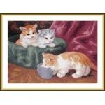Набор для вышивания арт.ВЫШ -К-08 Три котёнка 31x23 см
