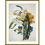Набор для вышивания арт.ВЫШ -К-14 Нарцисы и Анютины Глазки 26x33 см