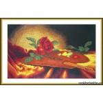 Набор для вышивания арт.ВЫШ -К-16 Роза на палитре 36x21 см
