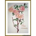 Набор для вышивания арт.ВЫШ -К-20 Роза Чиненсис 17x26 см