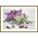 Набор для вышивания арт.ВЫШ -К-28 Сирень и орехи