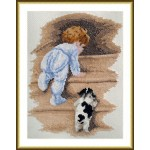 Набор для вышивания арт.ВЫШ -М-02 Мальчик и щенок 15х22 см