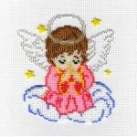 Набор для вышивания бисером МП Студия арт.БК-183 СР Ангелочек в розовом 14*12