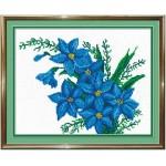 Набор для вышивания бисером МП Студия арт.БК-20 Б Синие цветы 25*20