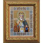 Набор для вышивания бисером Паутинка арт.Б1005 Св.Николай Чудотворец 28х22 см
