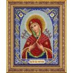 Набор для вышивания бисером Паутинка арт.Б1026 Богородица Семистрельная 28х22 см