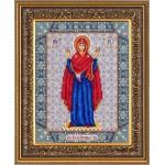 Набор для вышивания бисером Паутинка арт.Б1028 Богородица Нерушимая стена 28х22 см