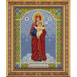 Набор для вышивания бисером Паутинка арт.Б1029 Богородица Благодатное небо 28х22 см