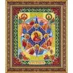 Набор для вышивания бисером Паутинка арт.Б1041 Пр.Богородица Неопалимая купина 28х22 см