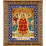 Набор для вышивания бисером Паутинка арт.Б1042 Пр.Богородица Прибавление ума 28х22 см