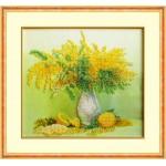 Набор для вышивания бисером Паутинка арт.Б1203 Мимоза с лимонами 28х22 см