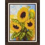 Набор для вышивания бисером Паутинка арт.Б1206 Солнечные подсолнухи 28х22 см
