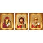 Набор для вышивания бисером Русская искусница арт.103 Три маленькие иконы