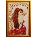 Набор для вышивания бисером Золотые Ручки арт. В-001 Лейла 31x51 см