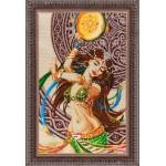 Набор для вышивания бисером Золотые Ручки арт. В-002 Азиза 31x51 см