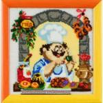 Набор для вышивания бисером Золотые Ручки арт. ВК-001 Чай с баранками 21x21 см