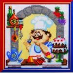 Набор для вышивания бисером Золотые Ручки арт. ВК-008 Десерт 21x21 см
