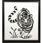 Набор для вышивания бисером Золотые Ручки арт. Ж-002 Тигр 24x31 см