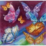 Набор для вышивания Сделай своими руками арт.ССР.Р-11 Радужные бабочки 28х28 см